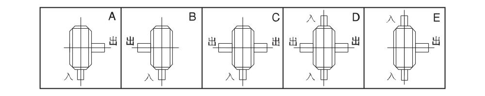 Исполнение червячных редукторов WPW